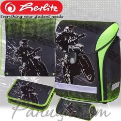 2019 Herlitz MIDI Plus Motorcross Ученическа раница с аксесоари 50020423