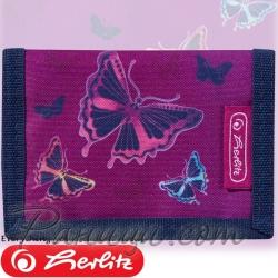 2019 Herlitz Loop Girls Малко портмоне Glitter Butterfly 50021369