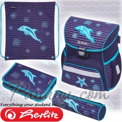2019 Herlitz Loop Plus Ергономична ученическа раница Dolphin 50020522