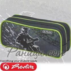 Herlitz Midi Празен мек несесер с 2 ципа Motocross 50021291
