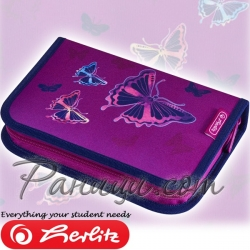 2019 Herlitz Loop Girls Несесер - празен Glitter Butterfly 50020805