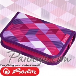 2019 Herlitz Motion Girls Несесер с 31 аксесоара Pink Cubes 50021031