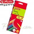 *Herlitz Цветни моливи 12 цвята