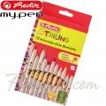 *Herlitz Цветни моливи Natur Trilino 12 цвята