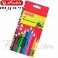 *Herlitz Цветни моливи Jumbo 10 цвята