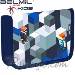 Belmil Classy Ученически празен несесер с 1 цип Bricks 335-72-119