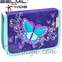 Belmil Classy Ученически празен несесер с 1 цип Spring Time 335-74-22