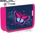 Belmil MiniFit Ученически празен несесер с 1 цип Butterfly Jeans 335-74-3