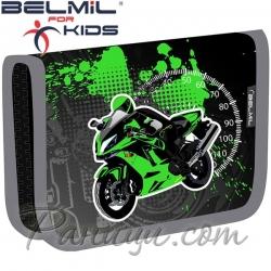 Belmil Classy Ученически празен несесер с 1 цип Street Racing Green 335-74-38