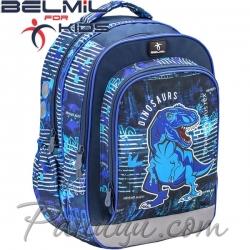 Belmil Ученическа раница Blue Dino 338-35-1