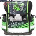 2020 Belmil Ергономична ученическа раница Street Racing Green 403-13-23