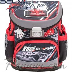 Belmil Mini Fit Ергономична ученическа раница Racing Sport 405-33-10