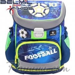 Belmil Mini Fit Ергономична ученическа раница Soccer Sport 405-33-4