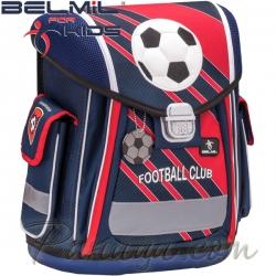 Belmil Ергономична ученическа раница Football Club Red 404-5