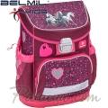 Belmil Ергономична ученическа раница  Mini Fit I love Horse 405-33