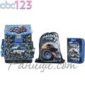 ABC123 Ученическа раница с аксесоари 3в1 Monster Truck 831099