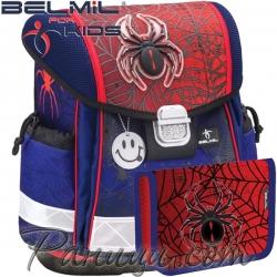 Ученическа раница за първи клас с аксесоари Belmil Classy Spiders 403-13-8