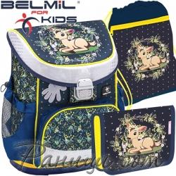 Ученическа раница за първи клас с аксесоари Belmil Mini Fit Magical Forest 405-3