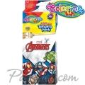 Colorino Kids Темперни бои в тубички 12 цвята Avengers 91451