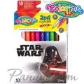 Colorino Kids Двувърхи флумастри 10 цвята Star Wars 89502