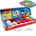 Colorino Kids Темперни боички в бурканчета 12 цвята Mickey Mouse 89878