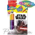 Colorino Kids Двувърхи моливи 12/24 цвята и острилка Star Wars 89465