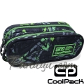 Cool Pack Clever Несесер с два ципа Electric Green B65099