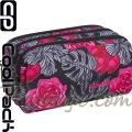 Cool Pack Primus Несесер с три ципа Red & Black Flowers 86431