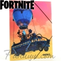 FORTNITE Папка с ластик Battle Bus FO977504