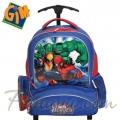 GiM Spiderman Heroes Ученическа раница с колела тролей 07-22581