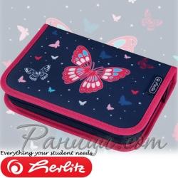 2020 Herlitz Loop Girls Несесер - празен Butterfly 50025985