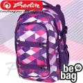 2015 Herlitz be.bag Beat Purple Checked Раница за училище 11410297