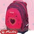 *Herlitz Bliss Pink Hearts Ученическа раница 50014002