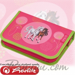 *Herlitz Loop Girls Несесер с 31 аксесоара Spring Horses
