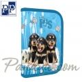 Karton PP DOG Ученически несесер пълен Blue