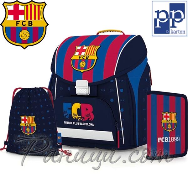 95fc56bdfef FC Barcelona Ученическа раница с аксесоари Premium Cool 0-90318 Karton P+P