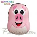 Kristal Kids School Детска раница с капак Piggy Pink