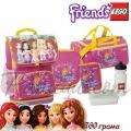 Lego Small Ученическа раница с 5 аксесоари Friends Pink 13043