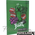 Minecraft Папка с ластик Creeper Green 65800_green