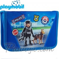 Playmobil Ученически празен несесер с един цип Police 503020011