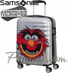 American Tourister Спинер на 4 колела 55см Wavebreaker Muppets Animal Sparkle
