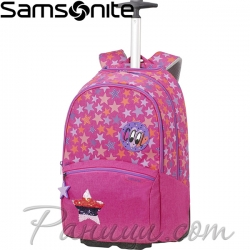 Samsonite Color Funtime Ученическа раница на две колела Pink Stars CU6.50.001