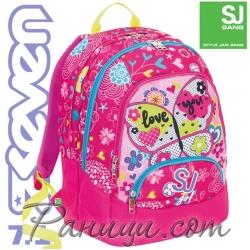 Seven 7.1 Ергономична раница за училище SJ Girl Pink 36933