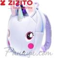 Zizito Детска раничка с предпазен колан Unicorn Lilac ONL30002422