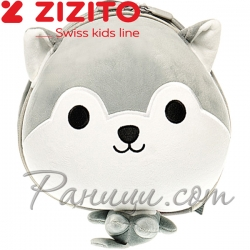 Zizito Детска раничка с предпазен колан Dog Grey ONL30002425